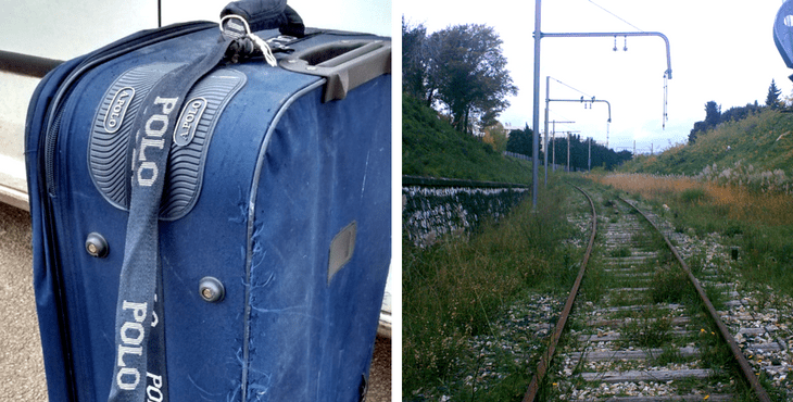 This Old Suitcase Dumped On Abandoned Train Tracks Was