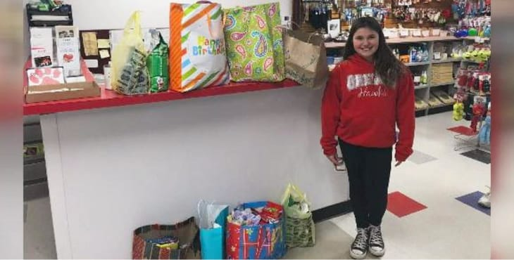 This Selfless 11 Year Old Girl Gave Up Birthday Presents For Animal Shelter Donations